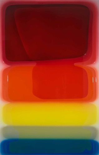 Peter Zimmermann, X-Plane, 2009, resin painting, H2500 mm x W1600 mm