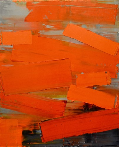 Abstract paintings, India, holy city of Varanasi, Ganges